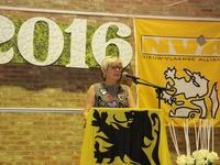 FVV voorzitster Lieve op receptie N-VA Opwijk-Mazenzele