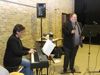 Muzikaal intermezzo door Jan en Marc op receptie N-VA Opwijk-Mazenzele